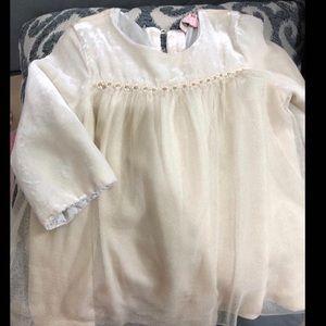 Baby girl velvet and tulle dress